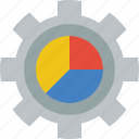 chart, marketing, retail, sales, selling, settings icon