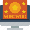 desktop, marketing, retail, sales, selling, win icon