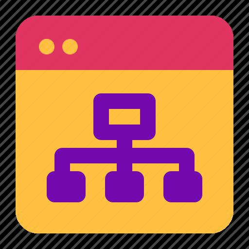 advertising, marketing, sitemap icon