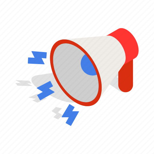 audio, communication, design, isometric, loudspeaker, speaker, voice icon