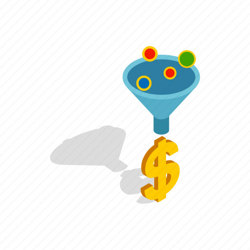conversion, flow, funnel, isometric, sale, sales, strategy icon