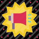 announce, boom, declare, megaphone, notification, promotion, sales icon