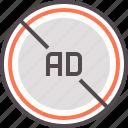 ad, adblock, advertising, block, protection icon