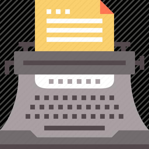 copywriting, editorial, story, storytelling, typewriter icon