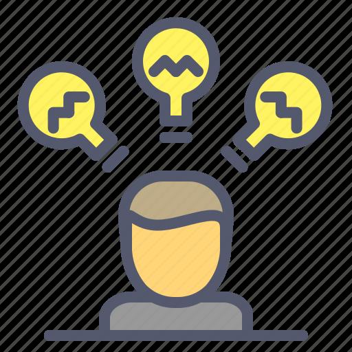 brainstorm, electricity, idea, meeting icon