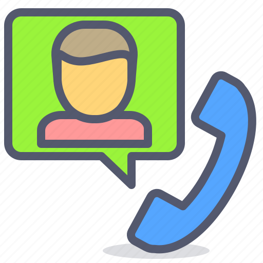 chat, fax, message, phone, user icon
