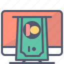 dollar, money, print, profit icon