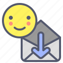 download, envelope, mail, message, receive icon
