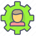 human, idea, options, settings icon