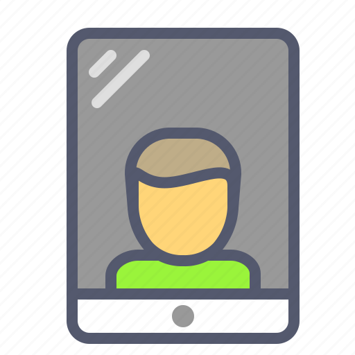 Ipad, mobile, profile, user icon - Download on Iconfinder
