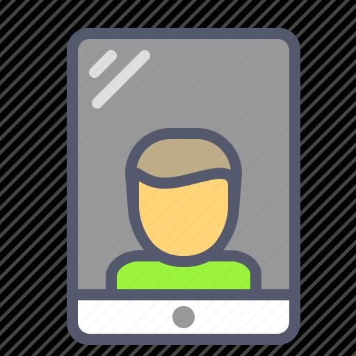 ipad, mobile, profile, user icon