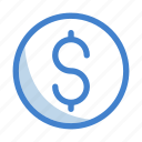 business, coins, currency, dollar, finance, money, payment icon