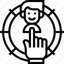 target, select, customer, specific, segment icon
