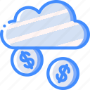 cloud, financial, marketing, retail, sales, selling icon