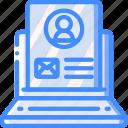 laptop, marketing, profile, retail, sales, selling icon