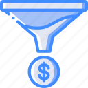financial, funnel, marketing, retail, sales, selling icon