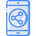marketing, mobile, retail, sales, selling, share icon