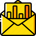 graph, mail, marketing, retail, sales, selling icon