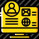 desktop, marketing, profile, retail, sales, selling icon