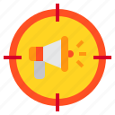 advertisment, business, goal, marketing, target icon