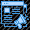 advertisment, browser, commerce, megaphone, online icon