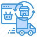 browser, delivery, logistic, online, shopping icon