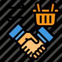 agreement, business, hand, handshake, store