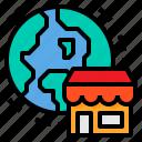 commerce, marketing, store, world icon