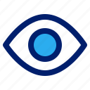 eye, market, marketplace, shop, view, visible