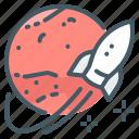 mars, planet, rocket, mission, launch