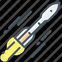 technology, rocket, mission, flight, acceleration icon