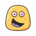 crazy, faces, funny, happy, monster, yello icon