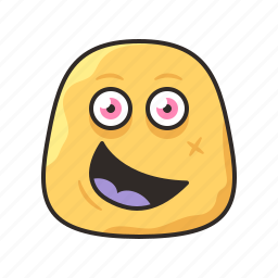 crazy, faces, funny, happy, monster, yello icon