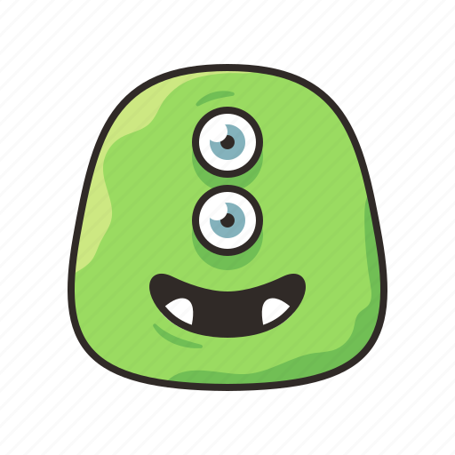 alien, crazy, faces, funny, green, monster icon
