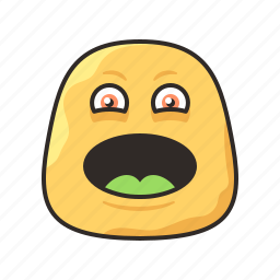 crazy, face, funny, laughing, monster icon