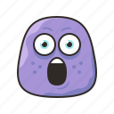 amazed, crazy, face, funny, monster, purple, surprised icon