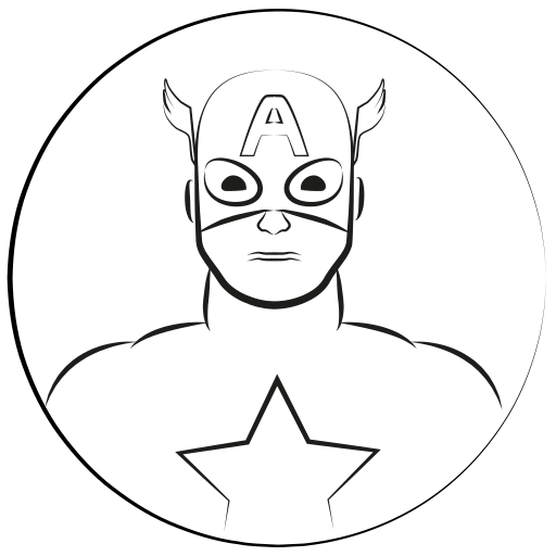 america, avatar, captain, captain america, marvel hero icon