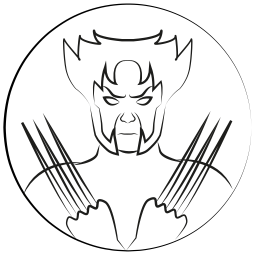 avatar, marvel hero, wolverine, x-man icon