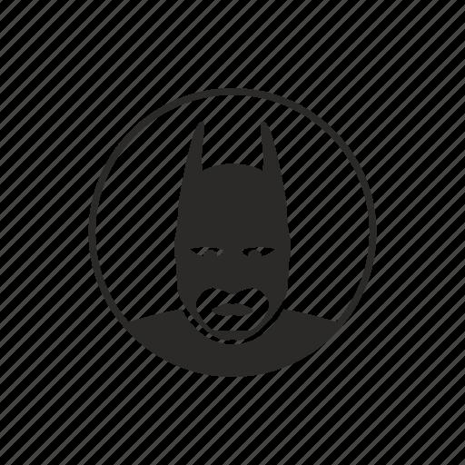 avatar, batman, comics, face, hero, mask, round icon