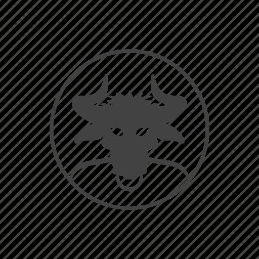 avatar, bull, comics, devil, head, hell, round icon