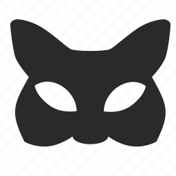 cat, face, look, mask, party, woman icon