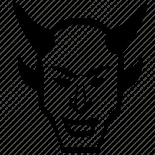death, devil, evil, face, head, smiley icon