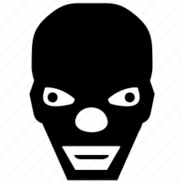 bad, clown, face, head, negro, terrorist icon