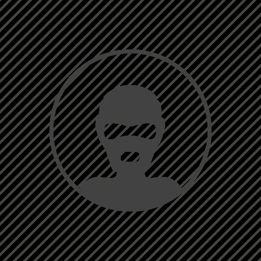 avatar, comics, face, head, maniac, round icon