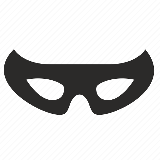 carnaval, incognito, man, mask, robbery, theft icon