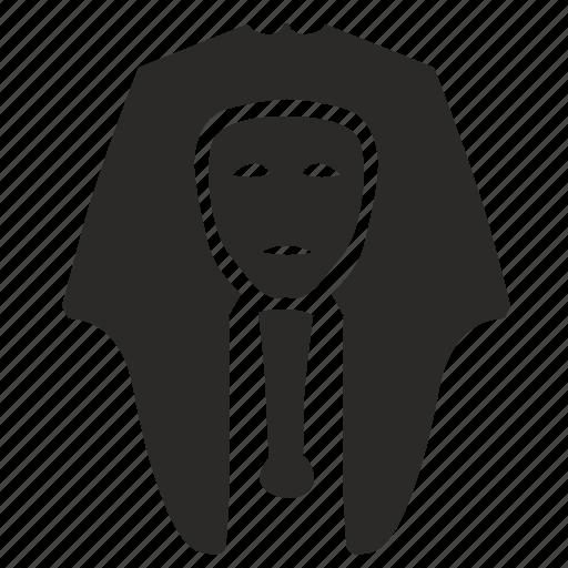death, face, mask, pharaon icon