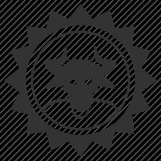 avatar, bull, devil, head, hell, round, star icon
