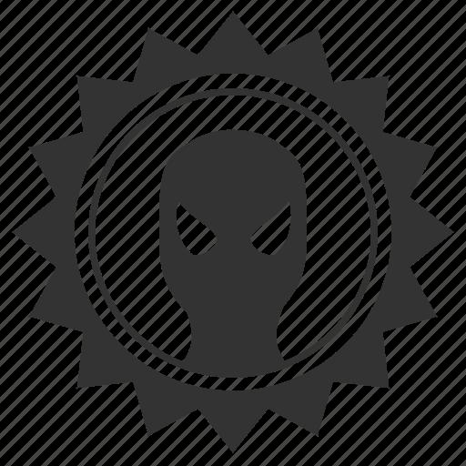 face, man, mask, round, spider, spiderman, star icon