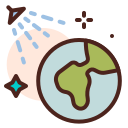 coronavirus, covid19, disinfection, earth, health, quarantine, sars icon