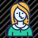 female, girl, presenter, woman icon